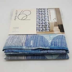 NWT Project 62 Blue Circles Shower Curtain